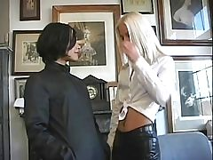 British lesbians in latex hold-ups in the bathroom