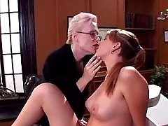 Mature teacher spoils school babe