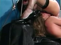 Lovely lesbian angels make hot sex with sextoys